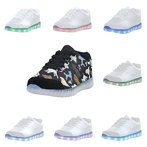 D-Story Winged Eye Fashion Sneakers Light Up Womens Shoes Multicoloured37 myDgKhQ