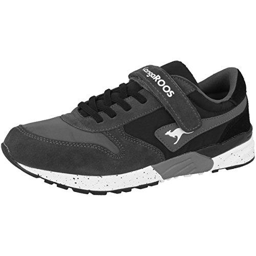 KangaROOS Chinu Ev, Zapatillas Unisex Niños Schwarz (Jet Black/Steel Grey)