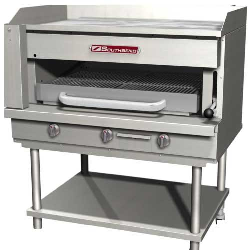 Southbend Ssb-36 Steakhouse Overfire Radiant Broiler with Griddle Top, Counterto ()