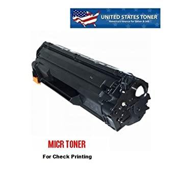 Compatible HP P1102W 1102W CE285A 85A MICR Toner Cartridge for Check Printing 2.2K - United States Toner brand