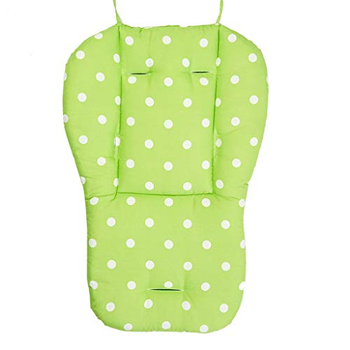 Tantisy ♣↭♣ Infant Stroller Seat Cushion/Pushchair Liner Mat/Car Seat/Thicken Breathable Cotton Cushion/Comfy Soft Green (Soft Gear Swimways Spongex My Booster Seat)