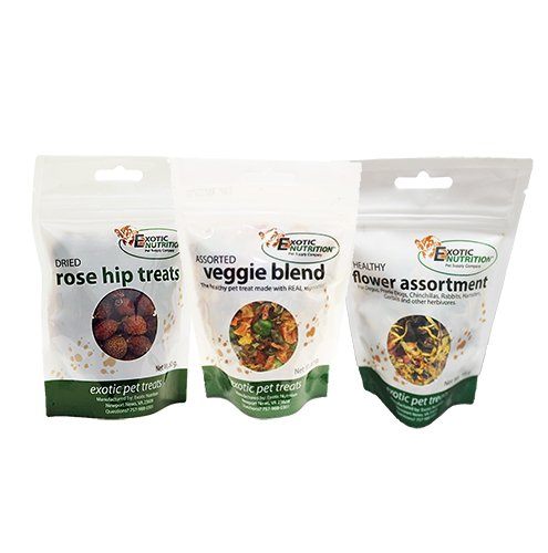 Herbivore Treats (3 Pack) - for Guinea Pigs, Rabbits, Hamsters, Gerbils
