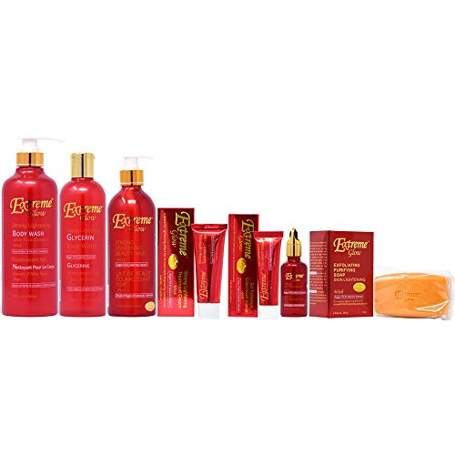 Extreme Glow Package I (Body Wash 27oz + Glycerin 16.8oz + Lotion 16.8oz + Soap 7oz + Cream 1.7oz + Gel 1oz + Serum 1.66oz)