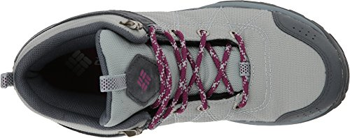 Picture of Columbia Women's FIRE Venture MID Textile Hiking Boot, Earl Grey, Dark Raspberry, 7.5 Regular US