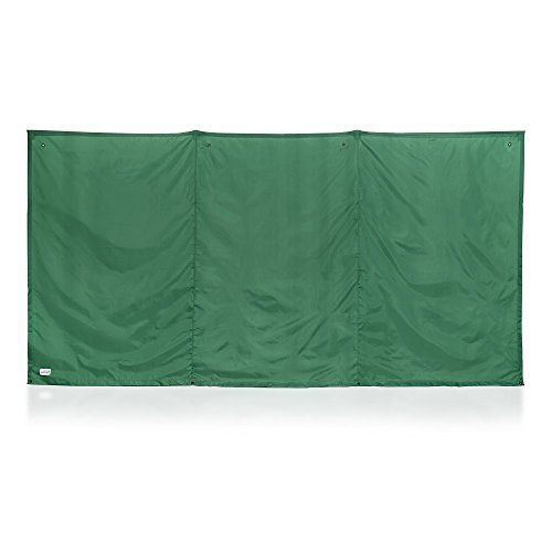 The WallUp Instant Outdoor Privacy Screen, 6-feet High by 12-feet Wide, Green (Round Concrete Patio Blocks)