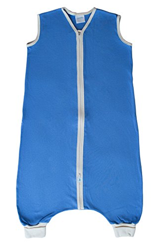 CastleWare Baby Organic Rib Knit Sleeper Bag for Walkers- Sleeveless-16 Mos-3T (X-Large/2T, Periwinkle)