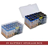 Whizzotech 9 Volt Battery Storage Case 9V Battery