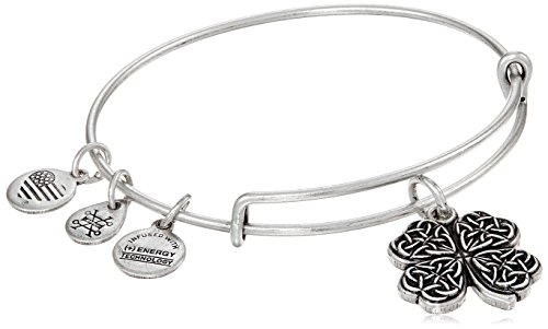 Alex and Ani Four Leaf Clover IV Rafaelian Silver Bangle ()
