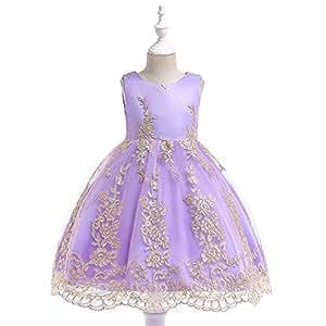 Amazon.com: NOMSOCR Vestido de princesa bordado de flores ...