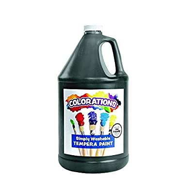 Colorations Washable Tempera Paint, Gallon, Black, Non Toxic, Vibrant, Bold, Kids Paint, Craft, Hobby, Fun, Art Supplies: Childrens Art Paints: Industrial & Scientific