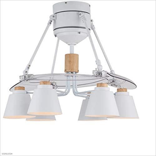 Ventiladores para el Techo con Lámpara Invisible Ventilador de Techo Luz Silenciador Ventilador Lámpara Nordic 6 Lámpara Araña, 220v Ventilador para el Techo con Luz Lumination (Color : A): Amazon.es: Hogar