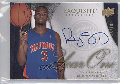 (Rodney Stuckey #4/10 (Basketball Card) 2007-08 Upper Deck Exquisite Collection - Year One Autographs #Y1-RS)