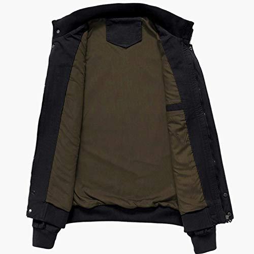 Leggera Giacche Antivento mg9962 Zipper All'aperto Militare Cotone Memoryee Uomo Vento Nero Giacca A O8TqgFI