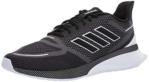 adidas Men's Nova Running Shoe, Black/White, 11 M US (Best Stable Running Shoes)
