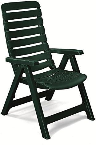Sillón de resina verde oscuro, sillones plegables de jardín, sillón de relax: Amazon.es: Hogar