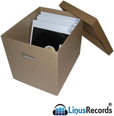 LinusRecords - 3 x Caja de cartón con tapa para contenere a hasta 100 Discos LP Vinilo 33 rpm (tot. 300): Amazon.es: Electrónica