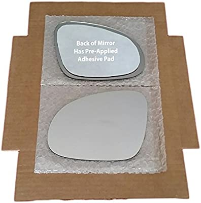 """REPLACEMENT-MIRROR-GLASS+ADHESIVE PAD~6/"""" x 9/"""" FOLDING POWER LEFT DRIVER SIDE"""