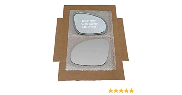 "REPLACEMENT-MIRROR-GLASS+ADHESIVE PAD~6/"" x 9/"" FOLDING POWER LEFT DRIVER SIDE"