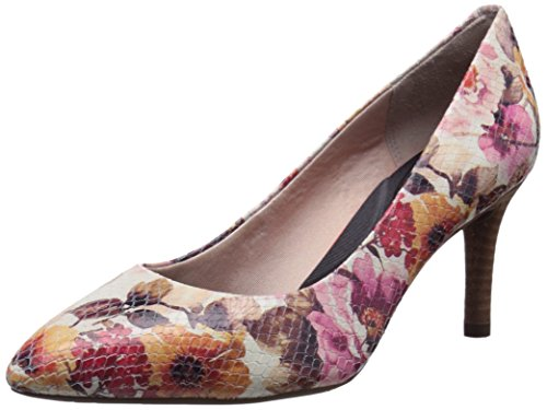 Rockport TOTAL MOTION 75 MM Pointy Toe Bomba de vestido de la mujer Pink Floral Rose
