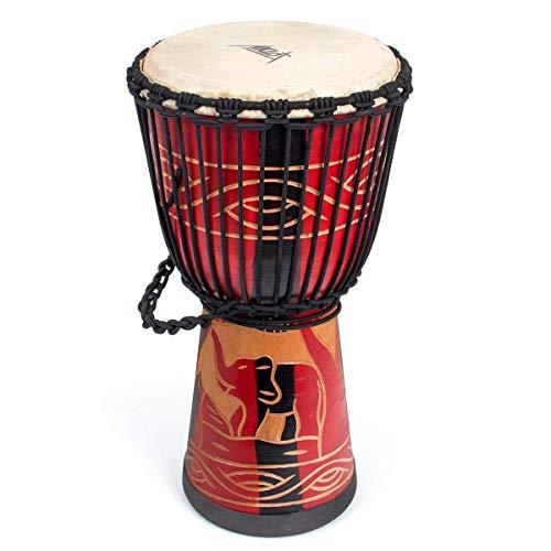 African Drum, Hand-Carved Bongo Congo Djembe Drum 9.5
