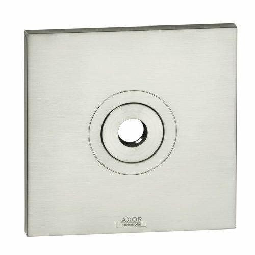 Axor 27419820 Citterio Square Shower Escutcheon, Brushed Nickel