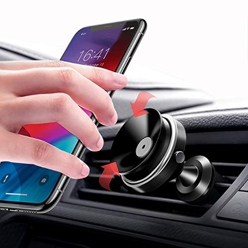 Suction Car Vent Phone Mount- Universal Car Phone Holder Air Vent Mount/ No Metal Plate Needed, Compatible with iPhone Xs Max XR X 8 7 Plus Galaxy S10 S9 S8 Plus Note 9 8 and More (Universal Air Vent)