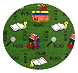 Bookworm Green - 7' ROUND Custom Stainmaster Premium Nylon Carpet Area Rug ~ Bound Finished Edges