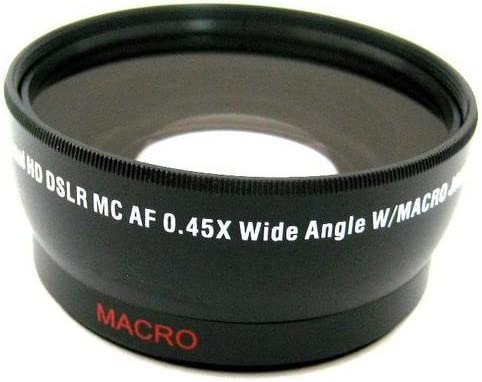 58mm 2X Telephoto Lens 58mm Wide Angle Lens with Macro for Canon G1X Mark 2 Digital Camera Filter Adapter More!!