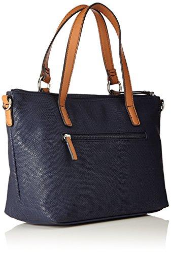 Gerry Weber Damen Summer Break Handbag Mhz Schultertasche, Blau (Dark Blue), 13x22x36 cm