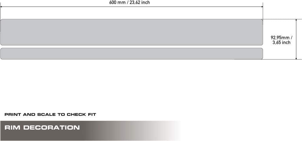 R1250GS ADV UNIRACING Kit de d/écoration de Jante K47943 BMW R1200GS 06-18