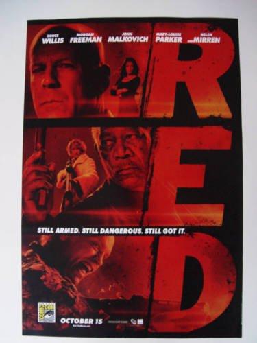 """Red - Original 11""""x17"""" Promo Movie Poster Comic Con SDCC Bruce Willis"""