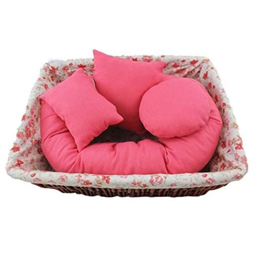 Misaky 4 PC Newborn Baby Photography Wheat Donut Posing Pillow Basket Filler Baby Photo Prop (Hot (4 Tuxedo Chairs)
