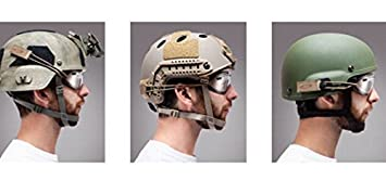 Combat Helmet Tactical Bungee Goggle Strap Kit for Ach//Core Ops mich//Fast//etc color negro tama/ño Free
