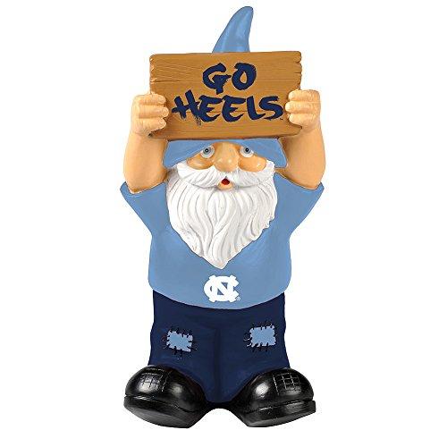Elite Fan Shop North Carolina Tar Heels Garden Gnome - Blue -