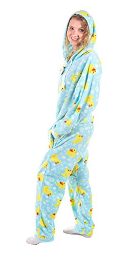 Forever Lazy Adult Onesie -Duckie - L -