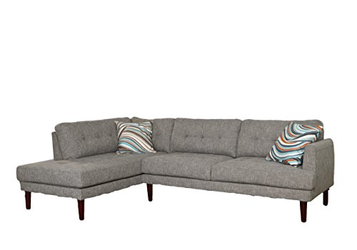 Lifestyle Sparrow Gray Linen Two Piece Left Chaise Sectio...