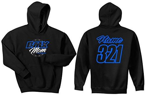 BMX Mom Sprocket Just Ride Bicycle Number Plate Custom Personalized Hoodie Sweat Shirt (MEDIUM, LIGHT ()
