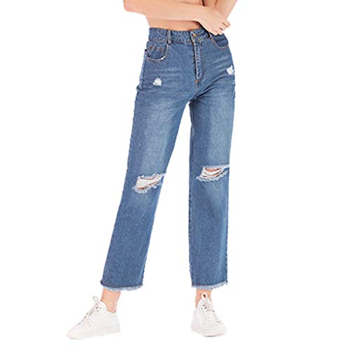 Women's High Rise Cropped Straight Leg Jean Elastic Plus Hole Denim Casual Wide Leg Pants Cropped - Apparatus The Jumpsuit Red Hoodie