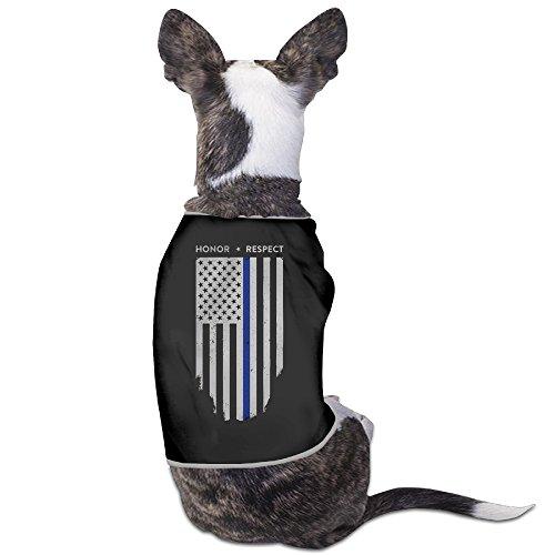 YRROWN Thin Blue Line American Flag Dog