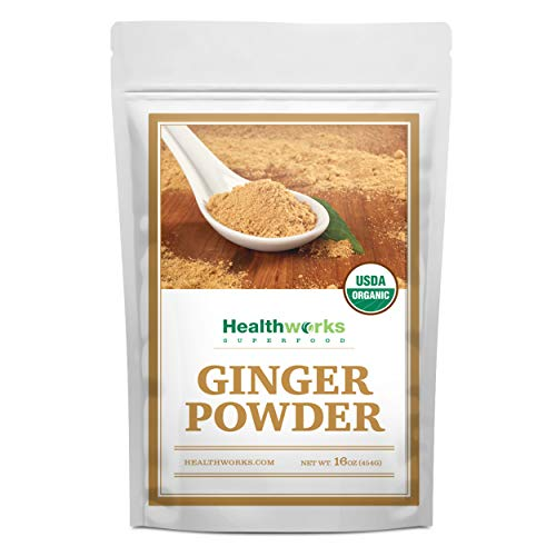Healthworks Ginger Powder (16 Ounces / 1 Pound) | Ground | Raw | All-Natural & Certified Organic | Keto, Vegan & Non-GMO | Great with Coffee, Tea & Juices | Antioxidant Superfood/Spice (Best Yogurt Brand In India)
