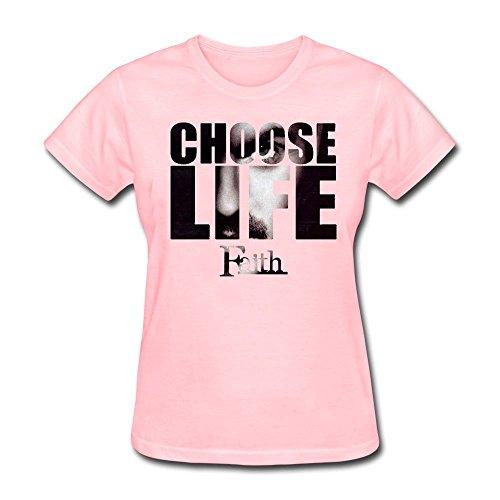 Price comparison product image AzonLD Women's George Michael Choose Life Faith Short T-shirt