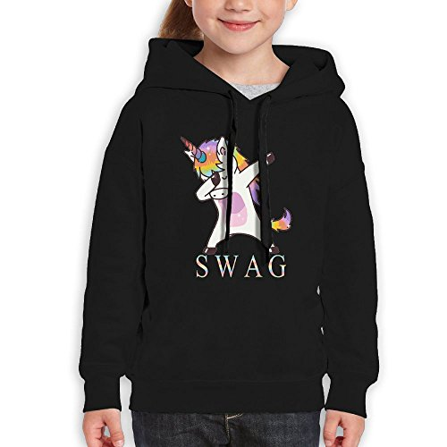 Swag Dabbing Unicorn Youth Pullover Hood Girls Boys Hooded Sweatshirt L Performance Hoodies