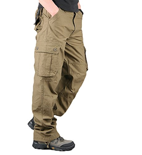 OSdream Six-Pocket Tactical Pants, Camping Hiking Hunting