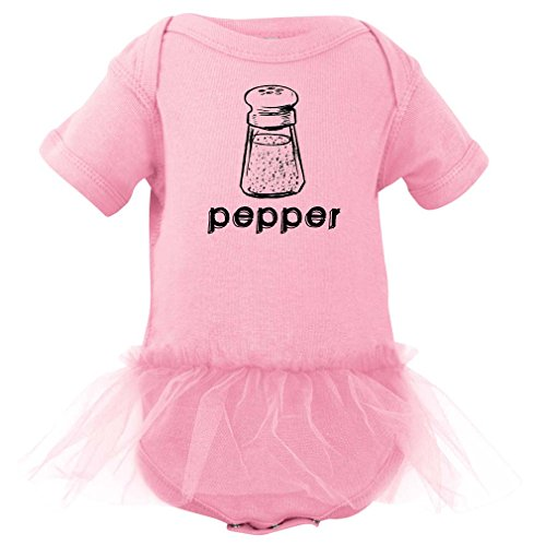 [Halloween Costume - Cute Twin Bodysuit With Pepper (Goes With Salt) Print With Tutu (Newborn, Light] (Halloween Costumes Ideas For Newborns)