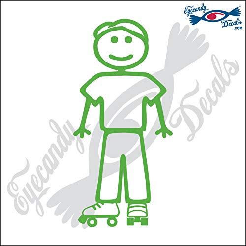 Eyecandy Decals Stick Family Man Wearing Roller Skates 5