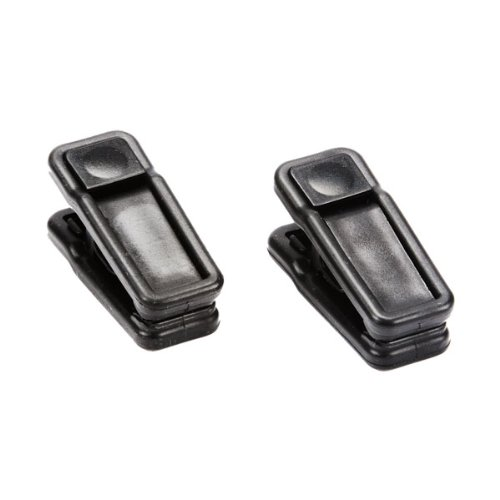 "Huggable Hangers Huggable Ultra Slim Finger Clips Black Pkg/10, 1"" X 1"" X 2-1/4"" H"