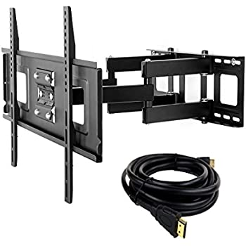 fleximounts a04 full motion articulating tv wall mount bracket for 32 65 inch led. Black Bedroom Furniture Sets. Home Design Ideas