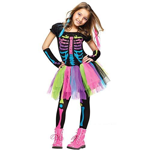 Bones Colorful Costume,Halloween Carnival Dress Up Parties
