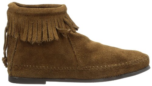 Brown Zipper Women's Back Dusty Minnetonka Bootie qwXExf