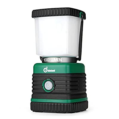 Odoland Ultra Bright 1000 Lumen Camping Lantern with Brightness Adjustment, Battery Powered LED Lantern of 4 Light Modes, Best for Camping, Hiking, Fishing & Emergency